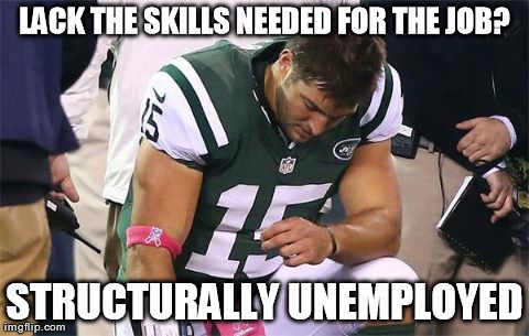 Tebow Structurally Unemployed